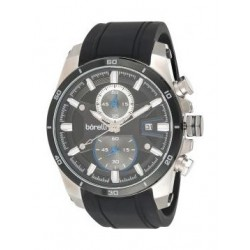 Borelli BMS12500006 Gents Chronograph Watch - Rubber Strap – Black