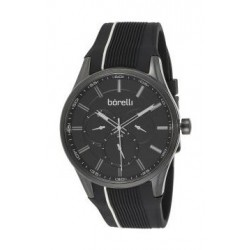 Borelli BMS12500035 Gents Chronograph Watch - Rubber Strap – Black