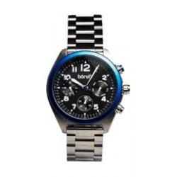 ساعة بوريلي للرجال بنظام عرض كونوغراف - حزام معدني - فضي (BMS20045959)
