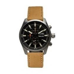 ساعة بوريلي للرجال بنظام عرض كونوغراف - حزام من الجلد - بني (BMS20048714)