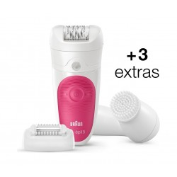 Braun Silk Epil 5 5-539 Wet & Dry Cordless Epilator with 3 Extras