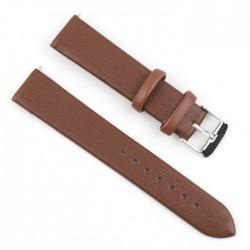 حزام الساعة الجلدي مقاس 22 مم من اي كيو - بني
