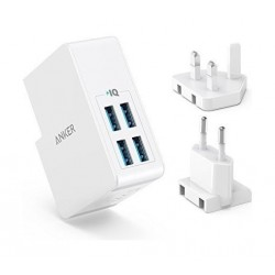 Anker PowerPort 4 Ports Wall Charger - White