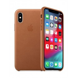 Apple iPhone XS MAX Leather Case - Saddle Brown