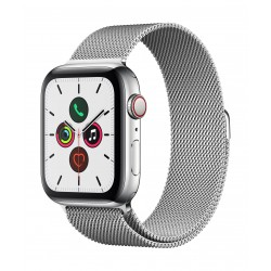 Apple Watch Series 5 GPS+Cellular 44mm Stainless Steel with Milanese Loop