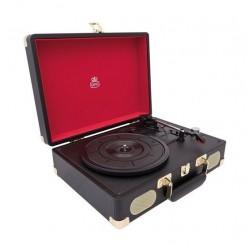 GPO Soho Vinyl Turntable + Built-in Speaker  - Black