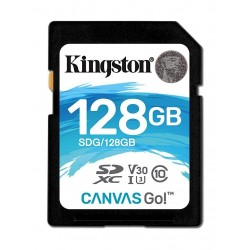 Kingston Canvas Go Class 10 U3 SD Card - 128GB