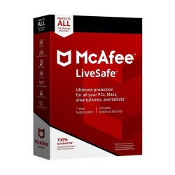 McAfee LiveSafe 2018 1 User Unlimited Devices