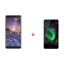 Nokia 7 Plus 64GB Black Phone + Nokia 2.1 8GB Phone