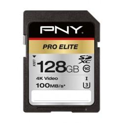 Pny Pro Elite Class 10 SDXC Memory Card - 128GB