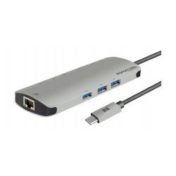 Promate PrimeHub-C 8-in1 USB-C Hub - Silver