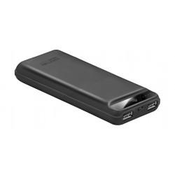 Promate Quantum-20 20000 mAh Powerbank with 2 USB Ports - Black