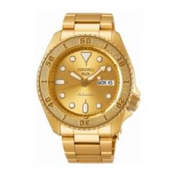 ساعة سيكو العصرية للرجال بحزام معدني و شاشة عرض تناظرية – 42.5 ملم - (RPE74K1) -  ذهبي