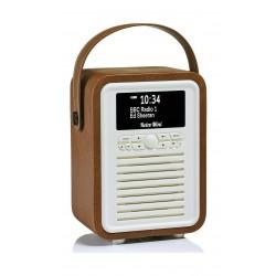 VQ Retro Mini HD & FM Radio with Bluetooth Speaker - Brown 2