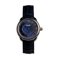 ساعة بوريلي للرجال بنظام عرض تناظري - حزام من الجلد - أزرق (BWC20048709)