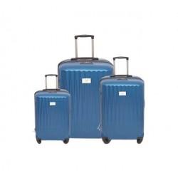 مجموعة 3 حقائب صلبة للسفر يو إس بولو كاليبسو - أزرق