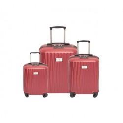 مجموعة 3 حقائب صلبة للسفر يو إس بولو كاليبسو - أحمر