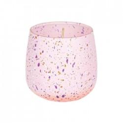 شمعة صفاة هوم برائحة الكتان الناعم 122 جرام - وردي