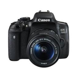 كاميرا كانون إي أو إس-٧٥٠دي مع عدسة ١٨-٥٥ ملم +٢٤ ميجابكسل - أسود