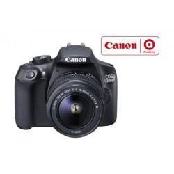 كاميرا كانون الرقمية إس إل آر بدقة ١٨ ميجا بكسل مع عدسة تقريب ١٨-٥٥ ملم – واي فاي – أسود (EOS 1300D)