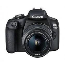 كاميرا كانون الرقمية إي أو إس ٢٠٠٠دي بدقة ٢٤,١ ميجابكسل واي فاي مع عدسة ١٨ - ٥٥ ملم آي إس - آي آي