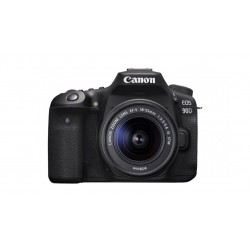 كاميرا كانون اي او اس 90 الرقمية دي إس إل آر مع عدسة 18-55 ملم - أسود