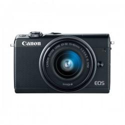 كاميرا كانون إي أو إس إم١٠٠ الرقمية بدون مرآة مع عدسة ١٥-٤٥ ملم - أسود