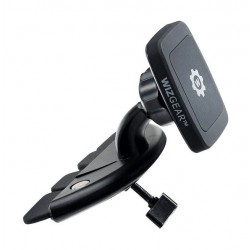 حامل السيارة المغناطيسي ويز جير بتوافق عالمي للهواتف الذكية – أسود (CD-RECT-114)