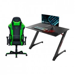 "DXRacer Razer Special Edition Racing Gaming Chair + 43"" Z Shaped Gaming Computer Desk in Kuwait 