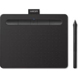 تابلت الرسم الإبداعي واكوم إنتوس بتقنية البلوتوث مع قلم رسم - (صغير) - أسود (CTL-4100WLK)