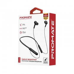 Promate Quartz Sweat Resistant Ergonomic Wireless Earphones - Black