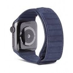 Decoded Traction Leather Apple Watch 42/44mm Strap - Blue