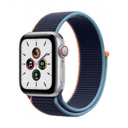 Apple Watch SE GPS and Cellular 40mm Silver Aluminium Case with Sport Loop (MYEG2AE/A) - Deep Navy
