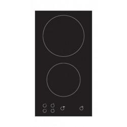 طباخ كهربائي مسطّح ومدمج من تيكنوجاز – بحجم ٣٠سم - ٢ شعلات من السيراميك - أسود (PN60VT4V)