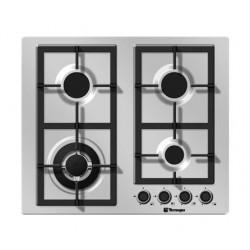 طباخ غاز مسطّح ومدمج من تيكنوجاز – ٦٠ سم – ٤ شعلات – ستانليس ستيل  (PN60GVF4TGX)