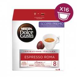 Dolce Gusto Nescafe - 16 Capsules roma red white coffee simple buy in xcite kuwait