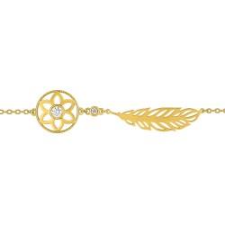 Fontenay Ladies Bracelet - Brass - Gold Plated  (DSB337Z18E) in Kuwait   Xcite Alghanim
