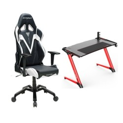 DXRacer Valkyrie Series White Chair and E-Sports Gaming Desk in Kuwait | Buy Online – Xcite