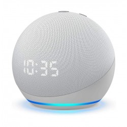 All-new Echo Dot 4th Gen. Smart speaker with clock and Alexa - White