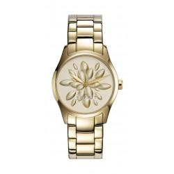 ساعة اسبريت للسيدات بعرض تناظري وسوار معدني – ذهبي (ES108892003)