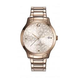 ساعة اسبريت للسيدات بعرض تناظري وسوار معدني – وردي مذّهب (ES108902003)