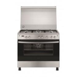 طباخ الغاز القائم فريجداير ٥ شعلات - ٩٠ x ٦٠ - فضي (FNGE90JGRSO)