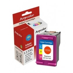 AnyColor 123XL Color Inkjet Printer Cartridge - F6V16A