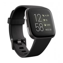 Fitbit Versa 2 Health & Fitness Smartwatch Standard Edition (FB507BKBK) - Carbon Black
