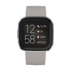 Fitbit Versa 2 Health & Fitness Smartwatch Standard Edition (FB507GYSR) - Mist Grey Aluminum