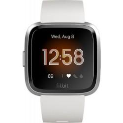 ساعة فت بت فيرسا لايت الذكية (FB415SRWT) - أبيض / فضي