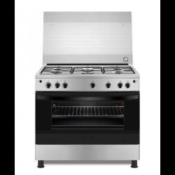 طباخ الغاز القائم فريجداير ٥ شعلات - ٩٠ × ٦٠  (FNGJ90JGVP) - ستانلس ستيل