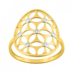 Fontenay Ladies Ring - Brass - Gold Plated 54 (DSR359Z-54) in Kuwait   Xcite Alghanim
