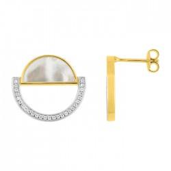 Fontenay Ladies Earrings - Brass - Gold Plated  (DSW369PZ) in Kuwait | Xcite Alghanim