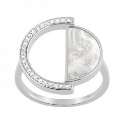 Fontenay Ladies Ring - Brass - Rhodium Plated 54 (FSR369PZ-54) in Kuwait   Xcite Alghanim
